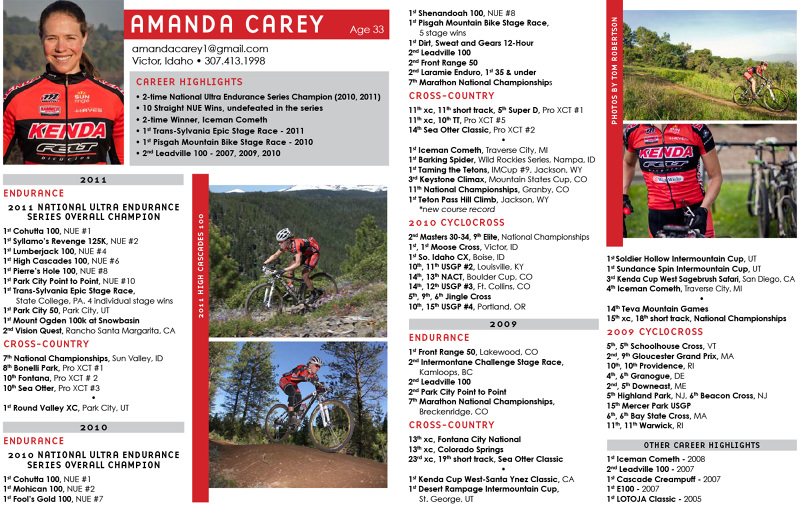Athlete Profile Flyer - Jenny Francis Graham